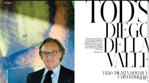 Tod's Diego della Valle, published in T Emirates: The New York Times Style Magazine
