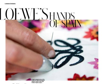 Loewe's Hands of Spain By Priyanka Pradhan. Published in T Emirates: The New York Times Style Magazine