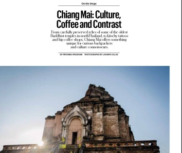 Chiang Mai: Culture, Coffee and Contrasts. Published in T Qatar: The New York Times Style Magazine (January 2015)