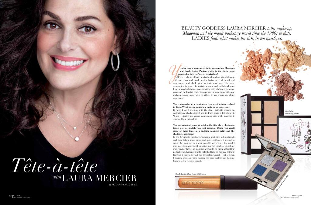 Download PDF: Interview with Laura Mercier, IWC Ladies Magazine, October 2015