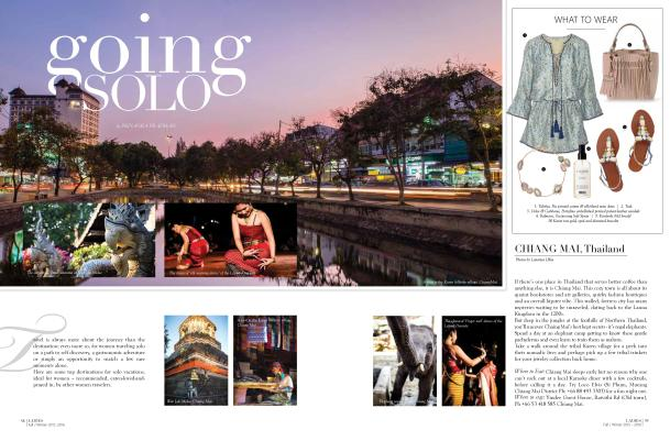 Download PDF: Going Solo, published in IWC Ladies Magazine, October 2015