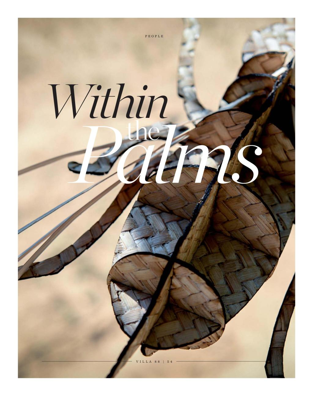 Download PDF: Within The Palms. Published in VILLA 88 SEPT 2015