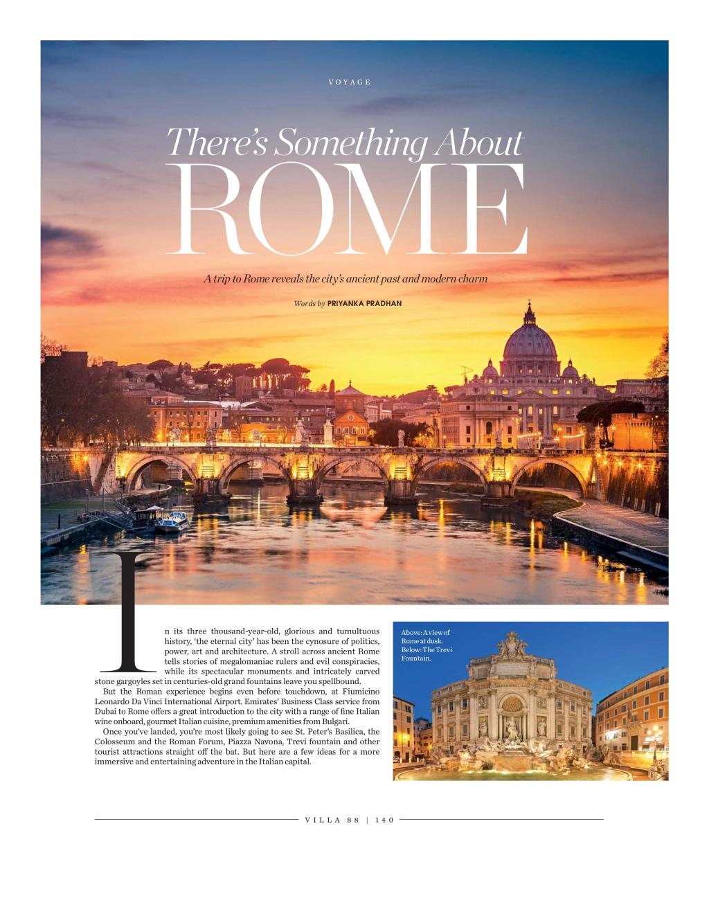 There's Something About Rome: Published in villa 88 Magazine, September 2015 issue