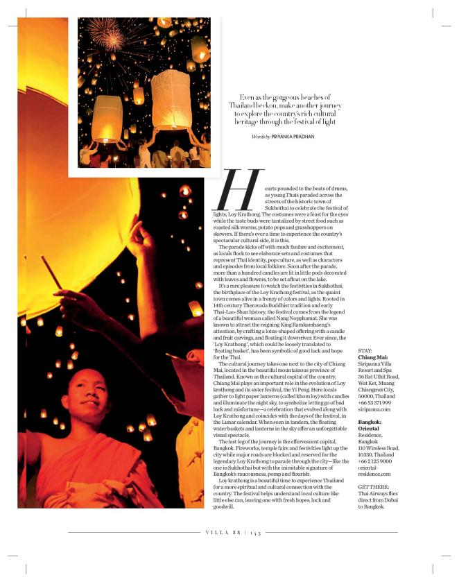 Loy Krathong: Published in Villa 88 spring 2016 issue